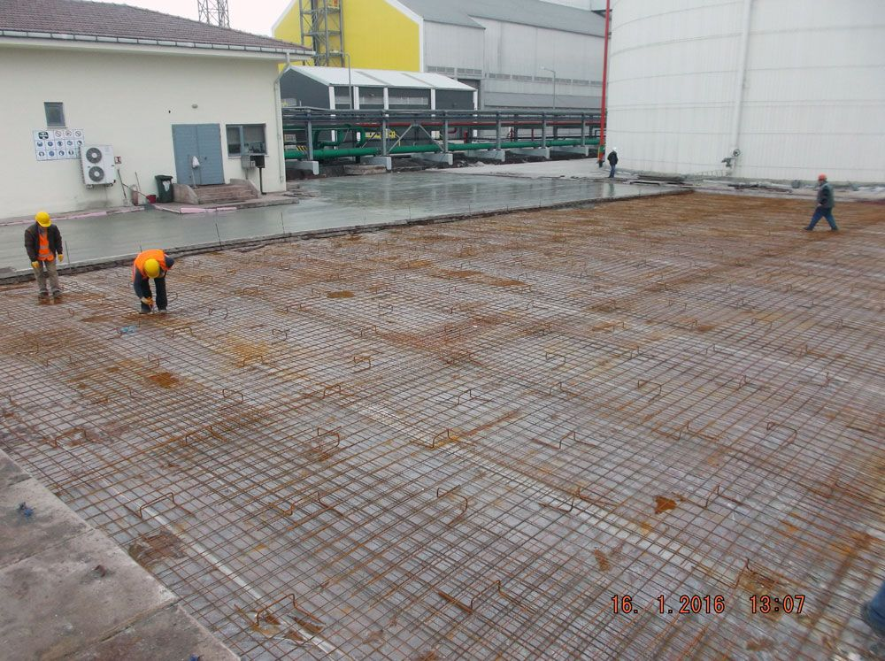 Building Operations of Landscaping in Ammonia Tanks